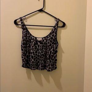 Kirra Size M crop cheetah top